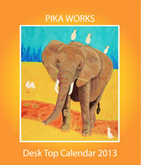Pika Works Desk Top Calendar of Paintings