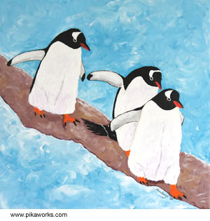 Three Gentoo Penguins
