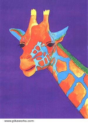Geraldine Giraffe At Pika Works Giraffe Painting For Kid