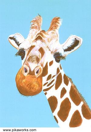 Gert The Flirt At Pika Works Gert The Giraffe Giraffe Birthday